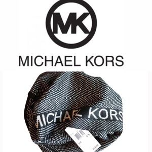 MICHAEL KORS Black & Silver With Metallic Detail's